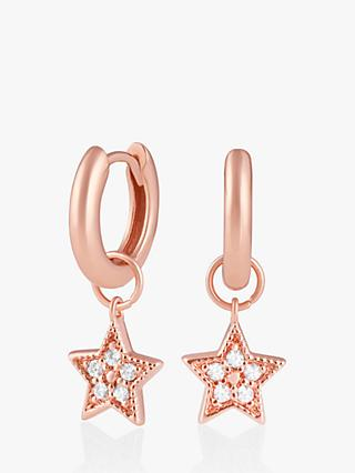 Olivia Burton Celestial Star Huggies Hoop Earrings, Rose Gold OBJCLE29