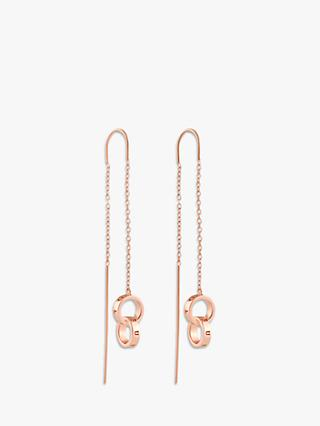 Olivia Burton Thread Double Ring Drop Earrings, Rose Gold OBJCOE66