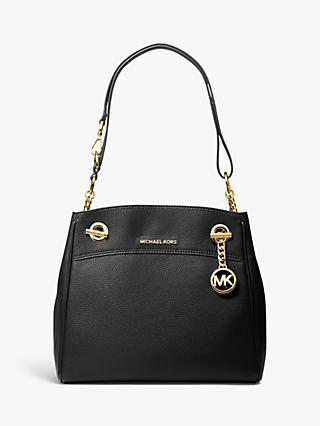 MICHAEL Michael Kors Mercer Leather Shoulder Bag, Black
