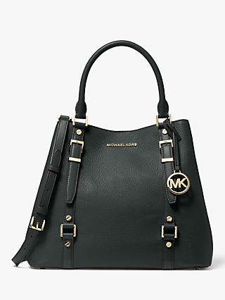 MICHAEL Michael Kors Bedford Leather Grab Bag, Dark Atlantic