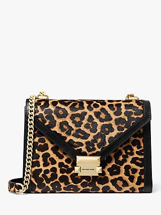MICHAEL Michael Kors Whitney Hair Calf Leather Chain Strap Shoulder Bag, Butterscotch