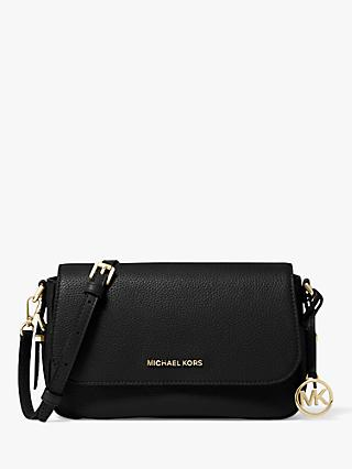 MICHAEL Michael Kors Bedford Leather Cross Body Bag, Black
