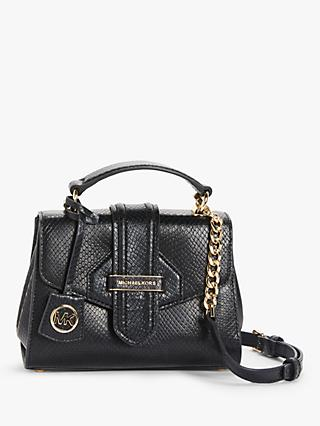 MICHAEL Michael Kors Bleecker Leather Cross Body Bag, Black