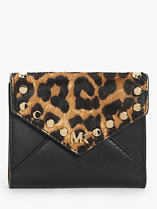 MICHAEL Michael Kors Mott Leather Envelope Card Purse, Butterscotch/Black
