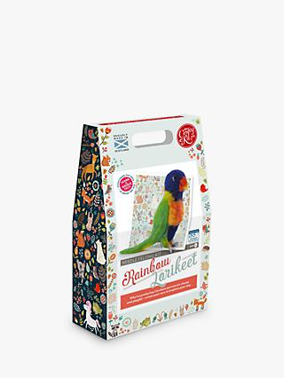 The Crafty Kit Company Needle Felted Rainbow Lorikeet Craft Kit