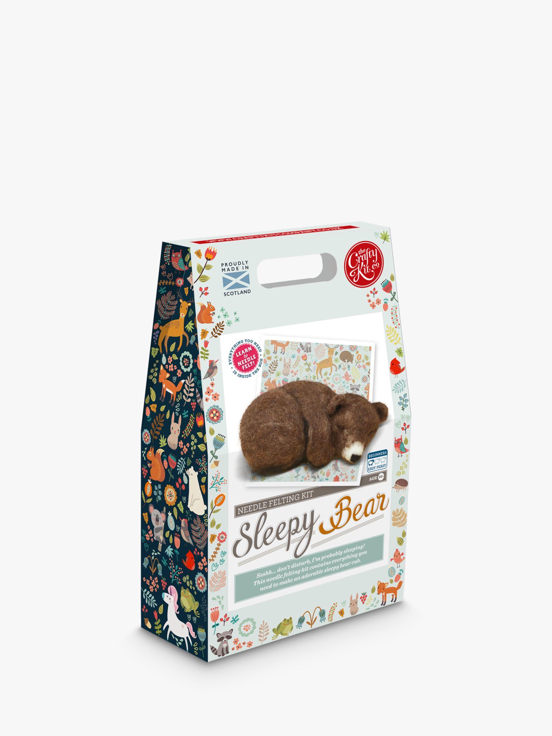 The Crafty Kit Company Needle Felted Sleepy Bear Craft Kit