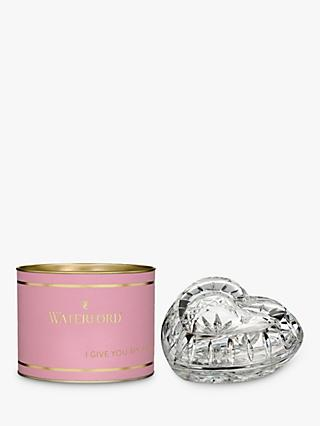 Waterford Giftology Crystal Heart Box