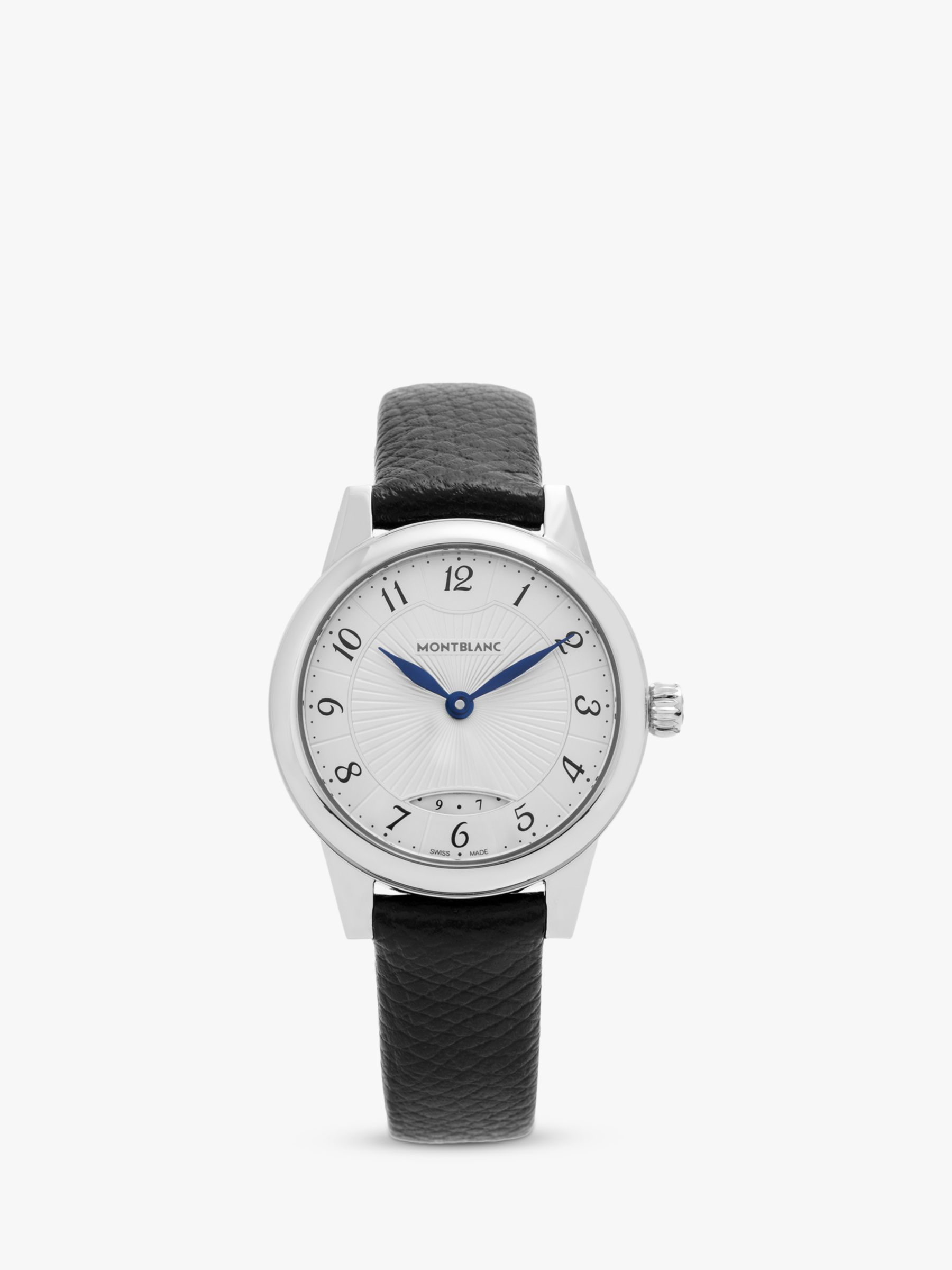 Montblanc Montblanc 111206C Women's Boheme Date Leather Strap Watch, Black/White