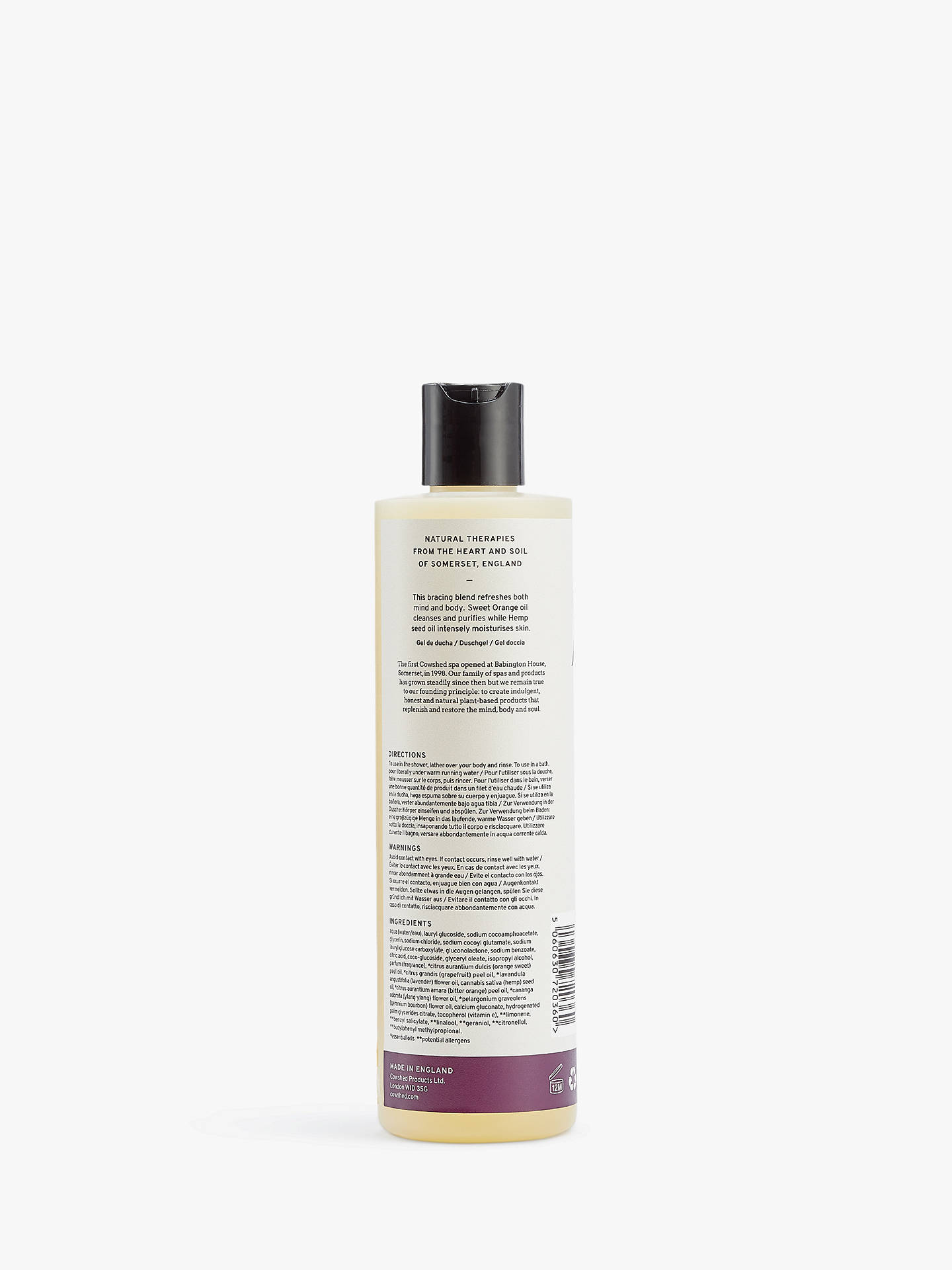 Buy Cowshed Awake Bracing Bath & Shower Gel, 300ml Online at johnlewis.com
