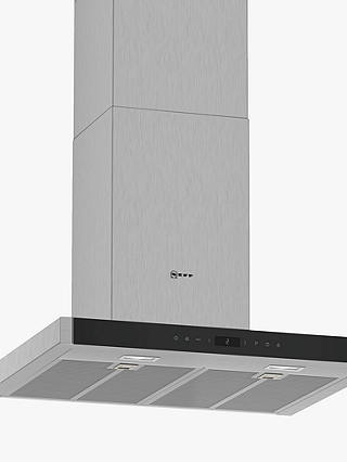 Buy Neff D65BMP5N0B Wall-Mounted Box Chimney Cooker Hood, 60cm, Grey/Stainless Steel Online at johnlewis.com