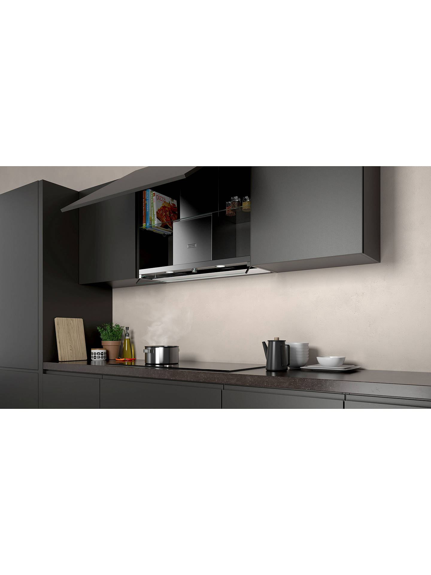 Buy Neff D94XAF8N0B Integrated Canopy Box Cooker Hood, 90cm, Grey/Stainless Steel Online at johnlewis.com