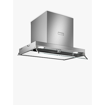 Image of Neff D64XAF8N0B Integrated Canopy Box Cooker Hood, 60cm, Grey/Stainless Steel