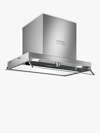 Neff D64XAF8N0B Integrated Canopy Box Cooker Hood, 60cm, Grey/Stainless Steel