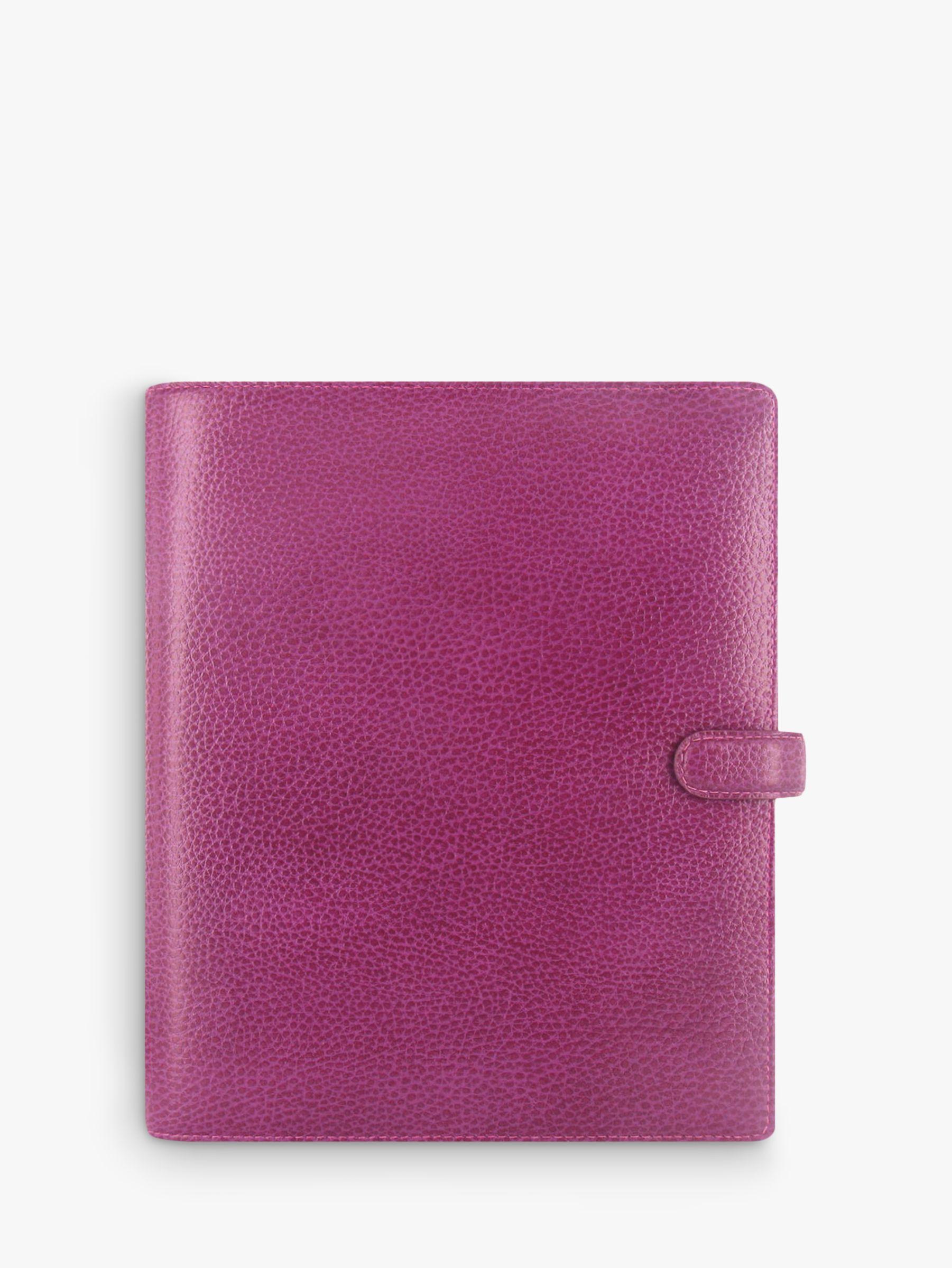 Filofax Filofax Finsbury Leather A5 Organiser, Raspberry