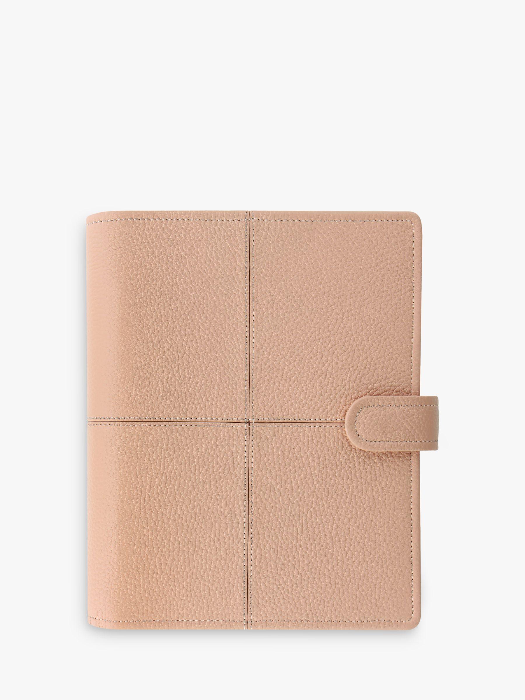 Filofax Filofax Classic Stitch Leather A5 Organiser, Soft Peach