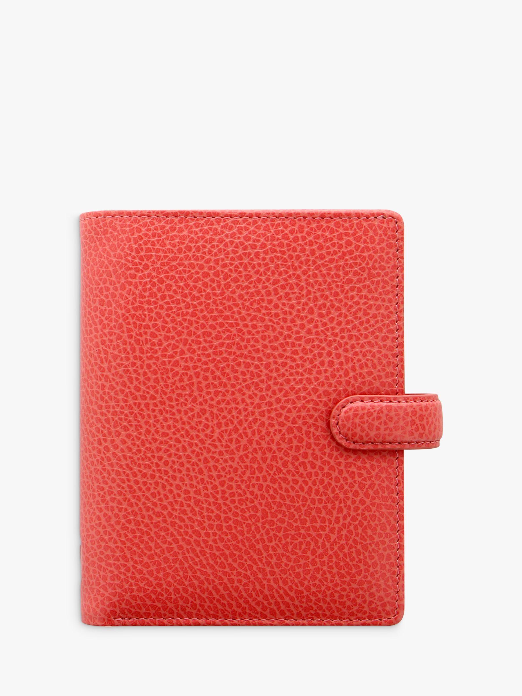 Filofax Filofax Finsbury Leather Pocket Organiser, Coral
