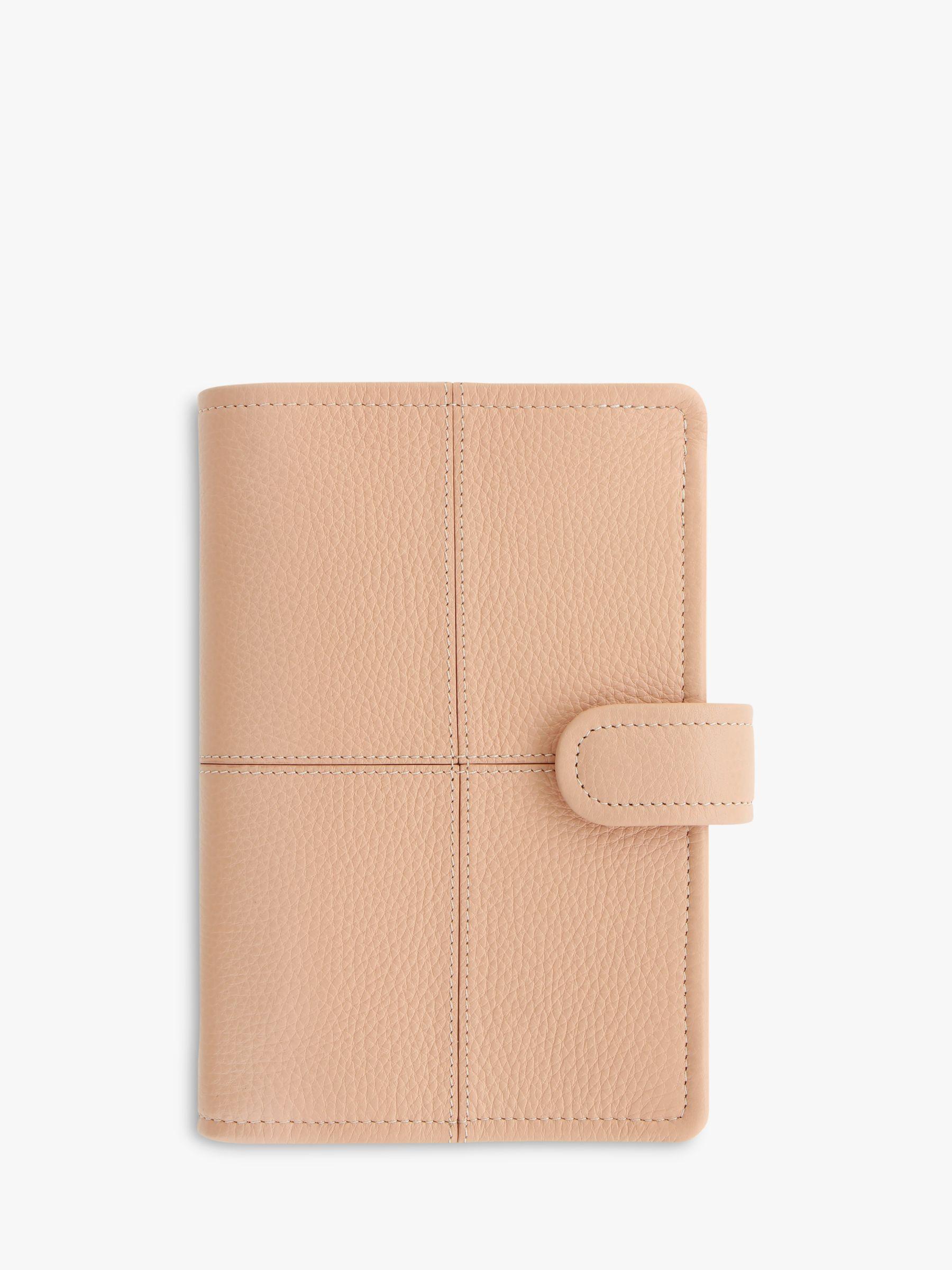 Filofax Filofax Classic Stitch Leather Personal Organiser, Soft Peach