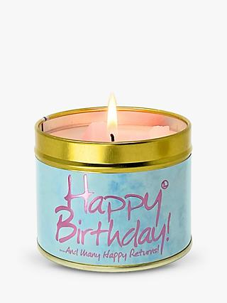 Lily-flame Happy Birthday Scented Tin Candle, 230g