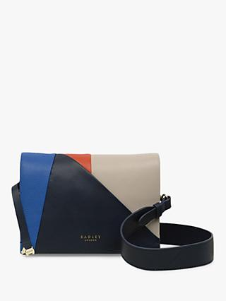 330a29900 Radley Haven Street Patchwork Leather Cross Body Bag, Dark Blue/Multi