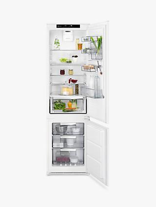 f2e4fce65d62 AEG SCE81928TS Integrated Fridge Freezer, A++ Energy Rating, 54cm Wide,  White