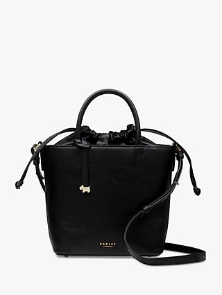 Radley Knitters Close Leather Small Drawstring Bucket Bag