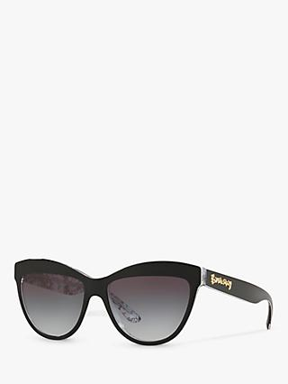 Burberry BE4267 Women's Cat's Eye Sunglasses, Black/Grey Gradient