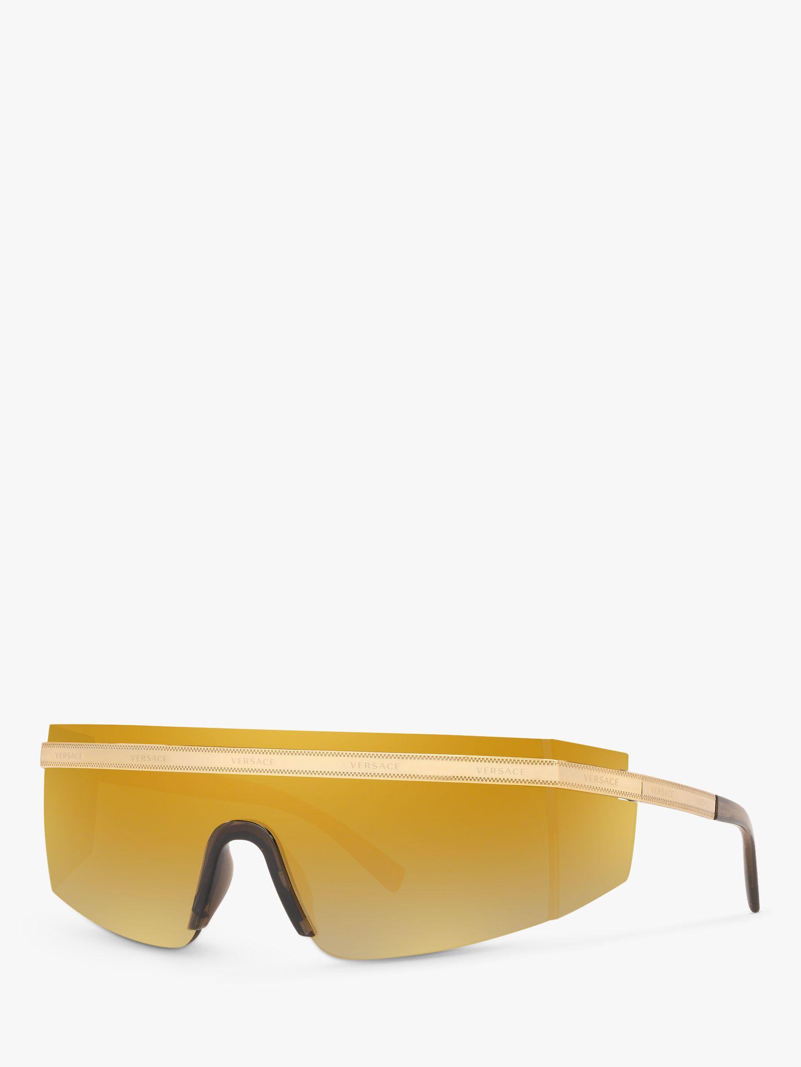 Versace Versace VE2208 Unisex Rectangular Wrap Sunglasses