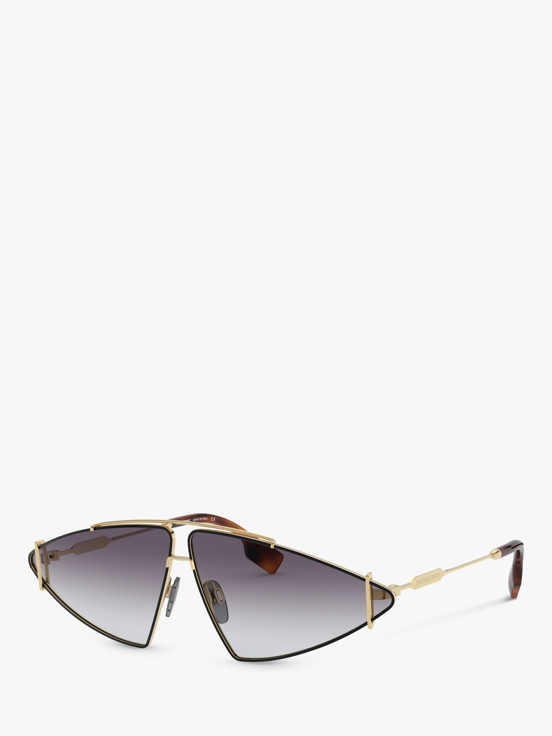 Burberry Burberry BE3111 Women's Triangular Sunglasses, Gold/Grey Gradient