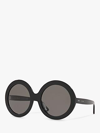 Celine CL40081U Women's Oval Sunglasses, Black