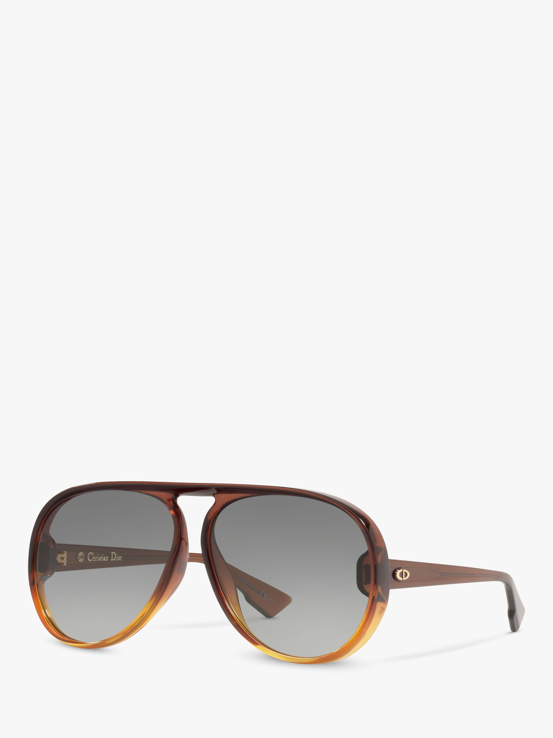 2b65b2296b05 Dior Diorlia Women's Aviator Sunglasses, Tortoise Brown/Grey at John Lewis  & Partners