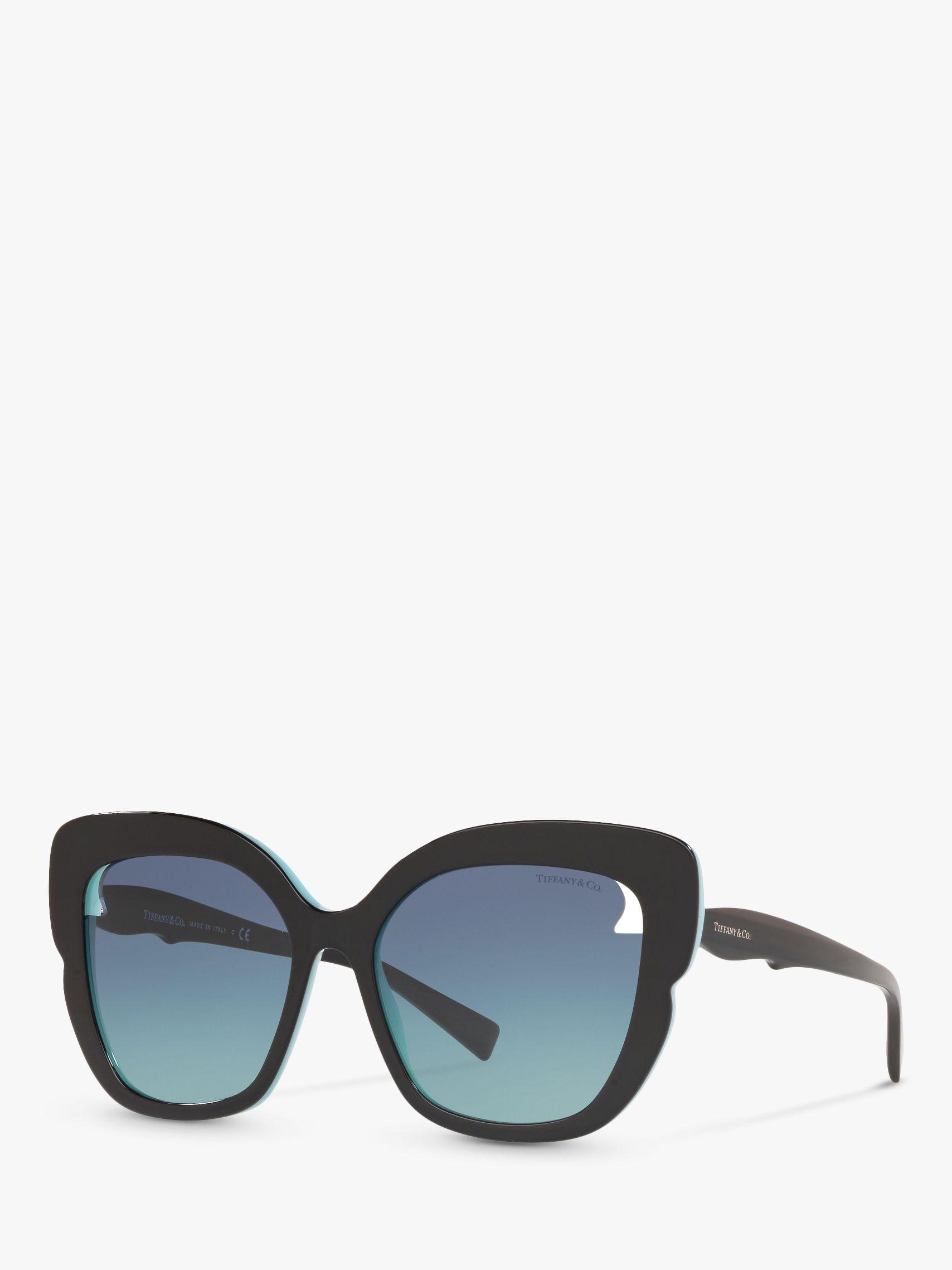 Tiffany & Co Tiffany & Co TF4161 Women's Square Sunglasses, Black/Blue