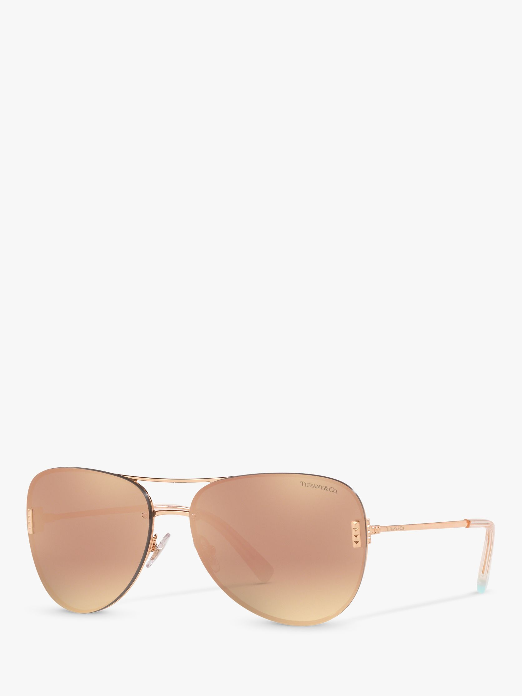 Tiffany & Co Tiffany & Co TF3066 Women's Aviator Sunglasses, Red Maroon/Gold