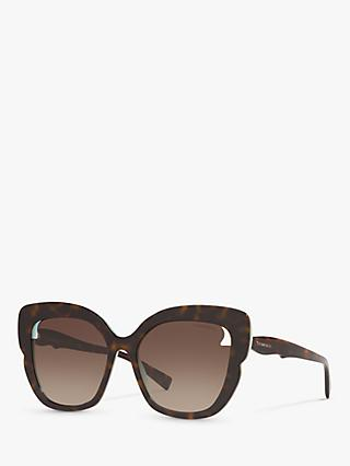 Tiffany & Co TF4161 Women's Square Sunglasses, Brown/Multi