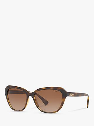 Ralph RA5258 Women's Cat's Eye Sunglasses, Tortoise/Brown Gradient