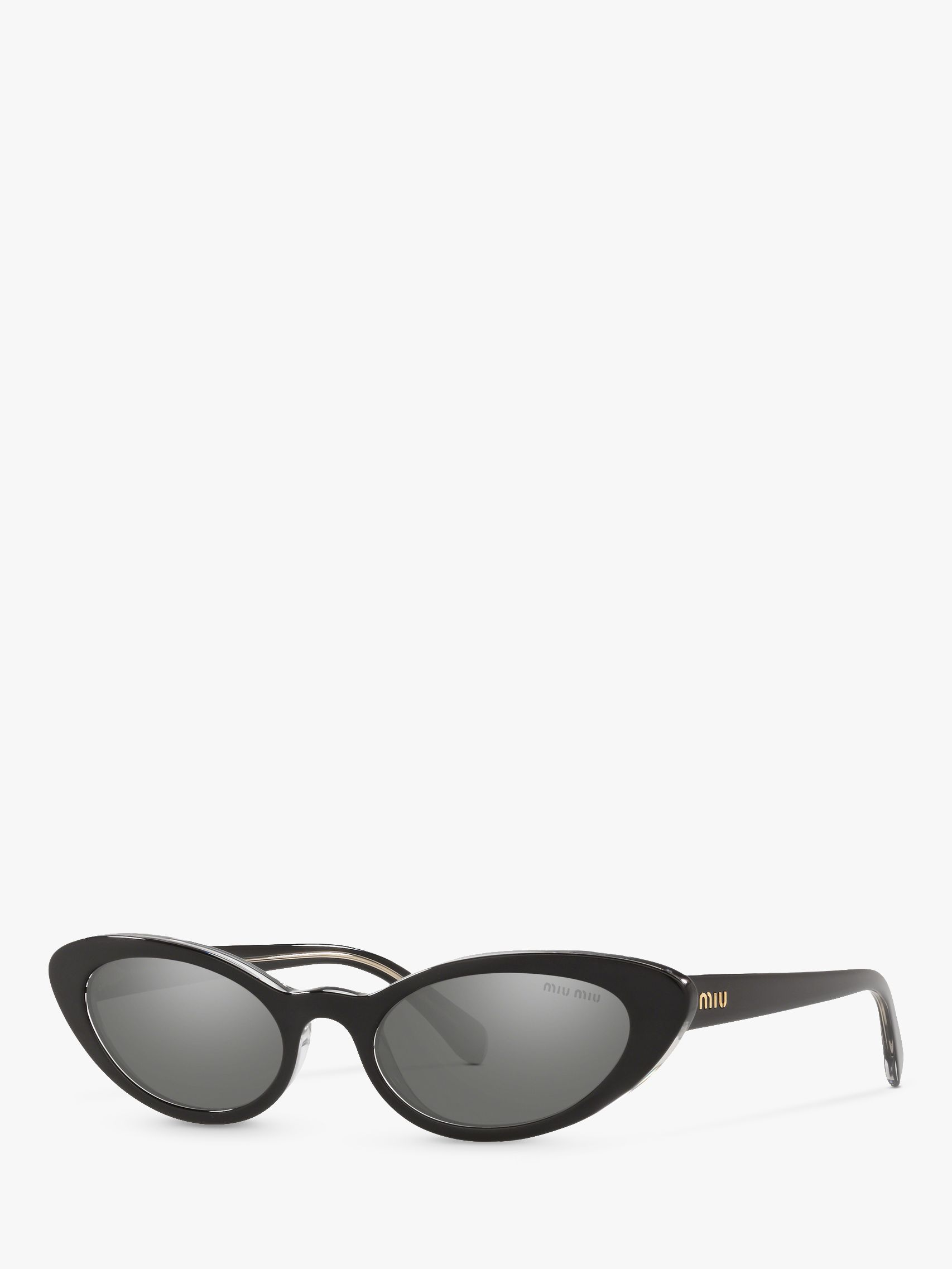 Miu Miu Miu Miu MU 09US Women's Stud Cat's Eye Sunglasses, Black