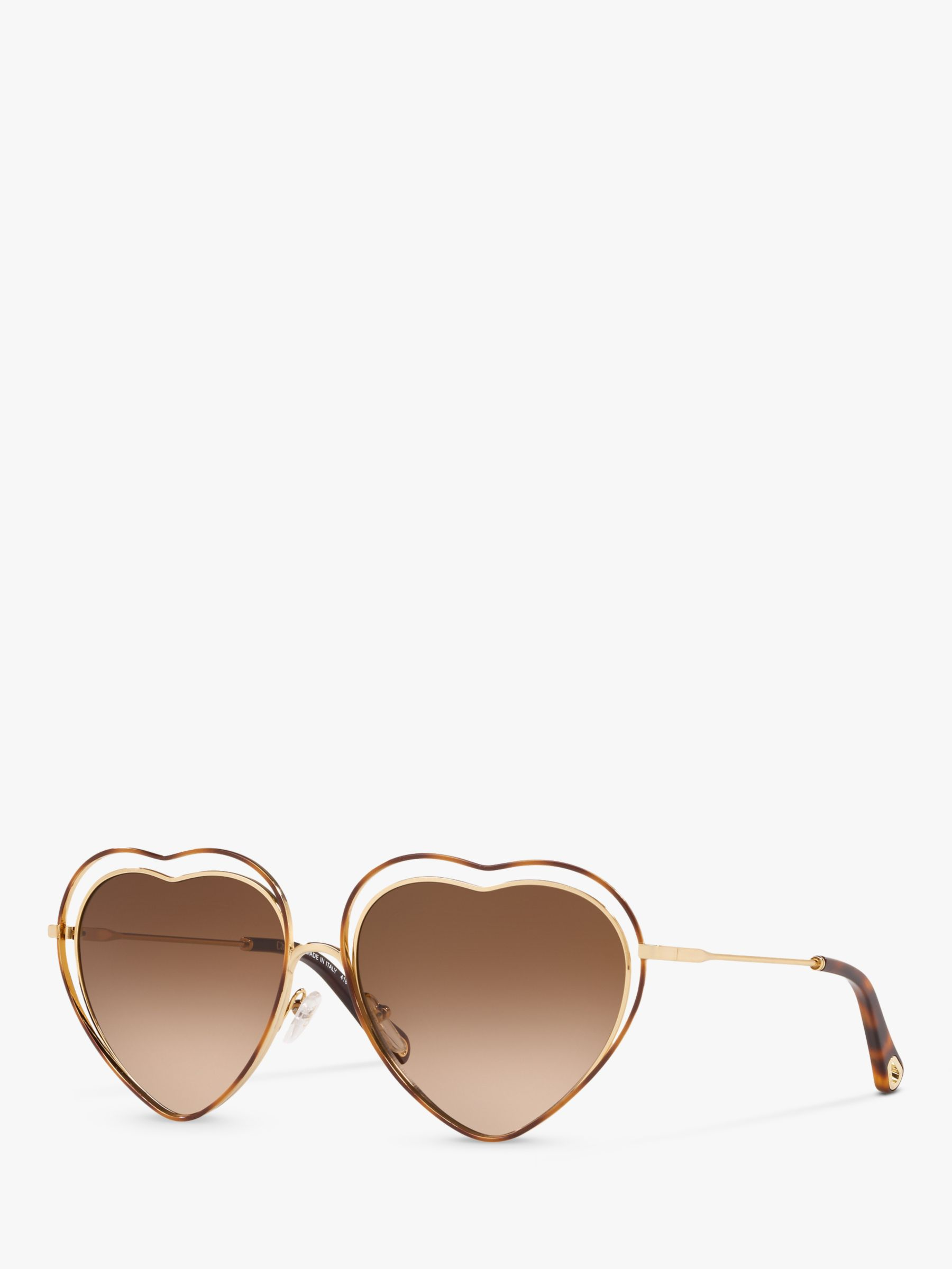 Chloe Chloé CE125S Women's Heart Sunglasses, Brown