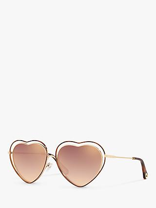 Chloé CE131S Women's Heart Shaped Butterfly Sunglasses