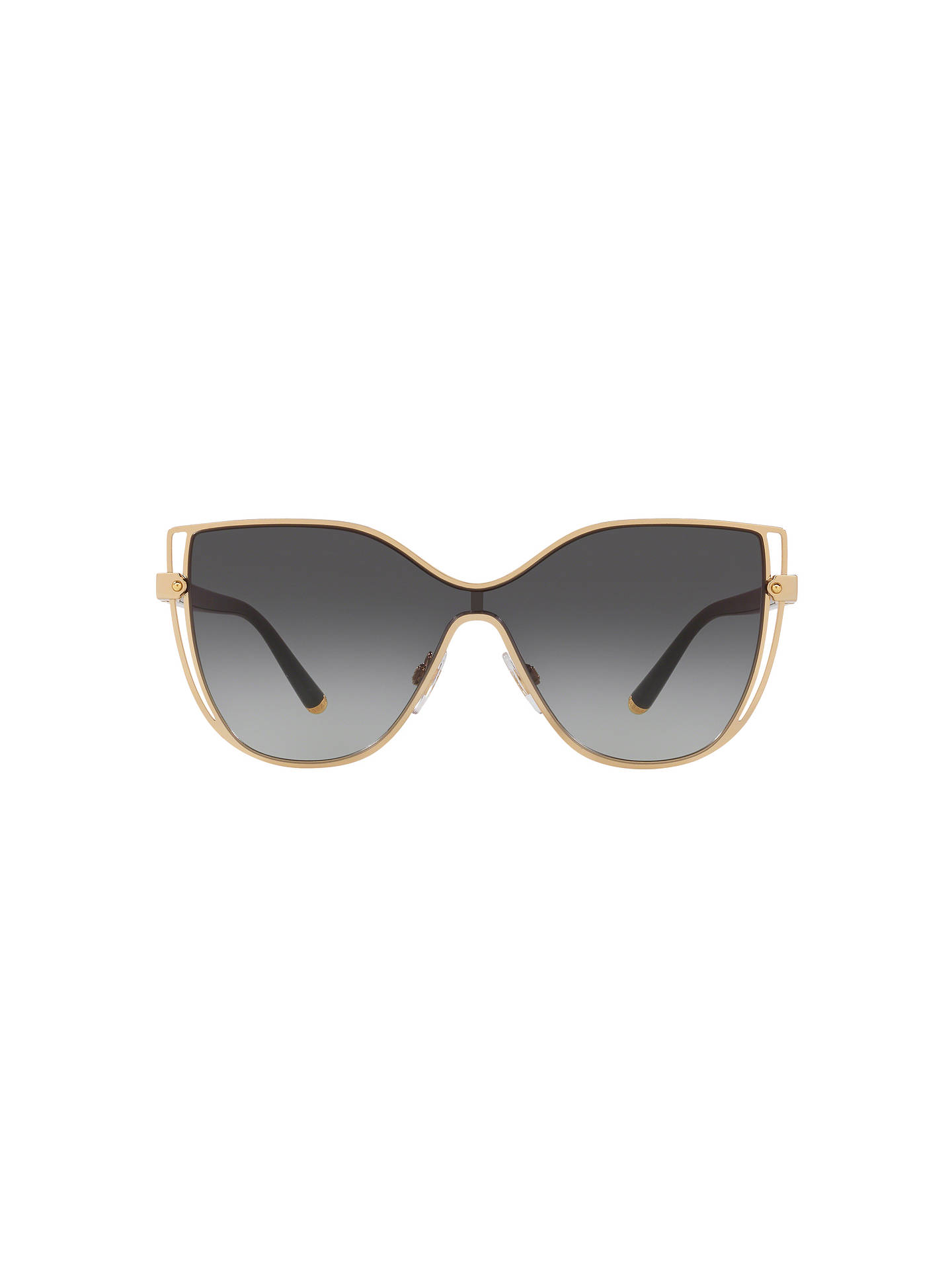 Buy Dolce & Gabbana DG2236 Women's Butterfly Sunglasses, Gold/Grey Gradient Online at johnlewis.com