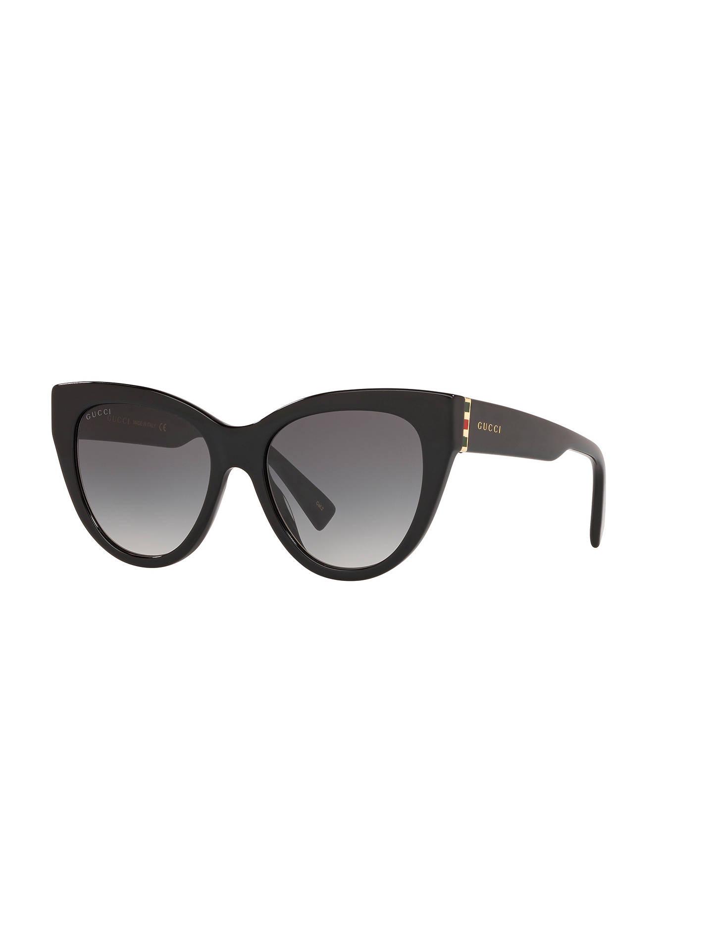 20b3feadf Buy Gucci GG0460S Women's Cat Eye Sunglasses, Black/Black Online at  johnlewis. ...