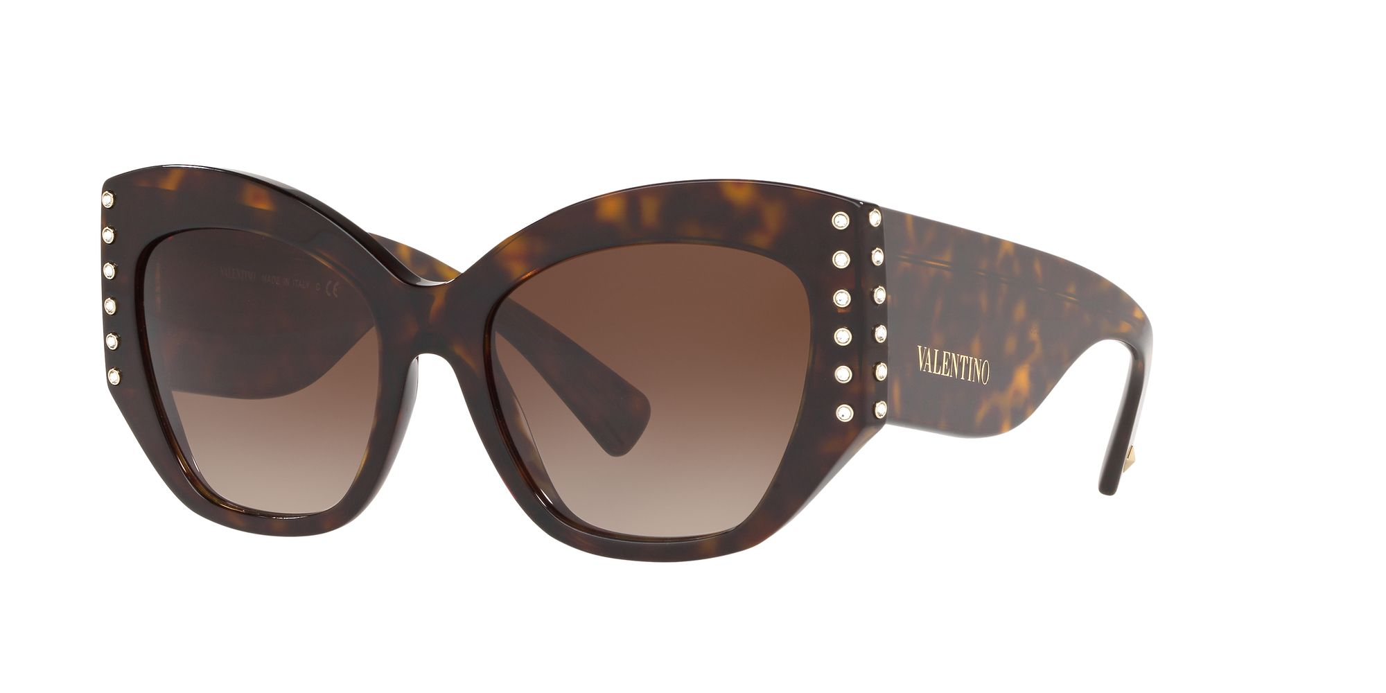 Valentino Valentino VA4056 Women's Studded Cat's Eye Sunglasses