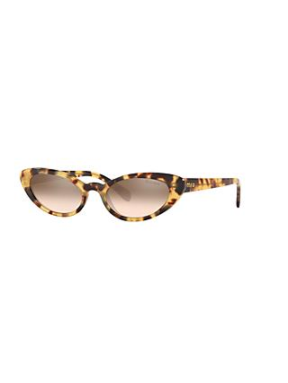 Miu Miu MU 09US Women's Stud Cat's Eye Sunglasses, Light Brown