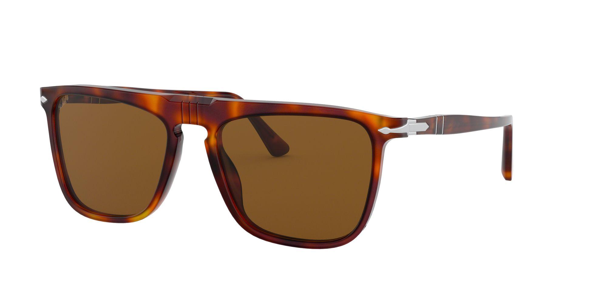Persol Persol PO3225S Unisex Polarised Rectangular Sunglasses