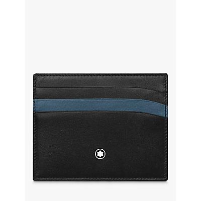 Montblanc Meisterstück Leather 6 Credit Card Holder, Black/Blue