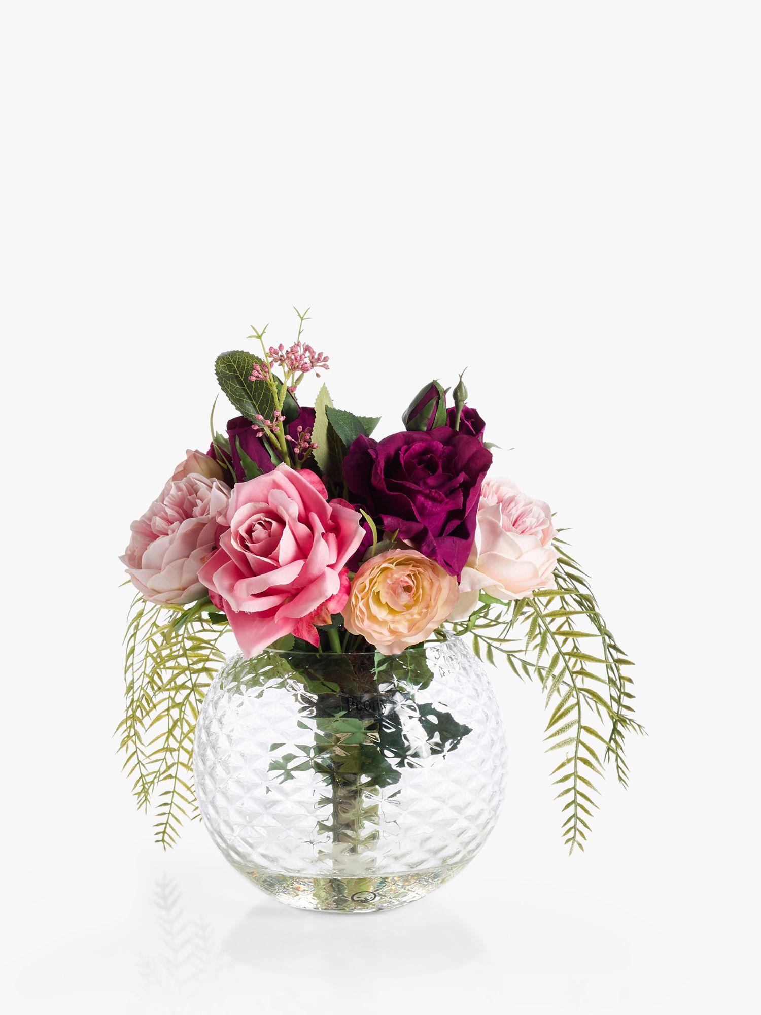 Peony Peony Artificial Rose & Foliage Bowl