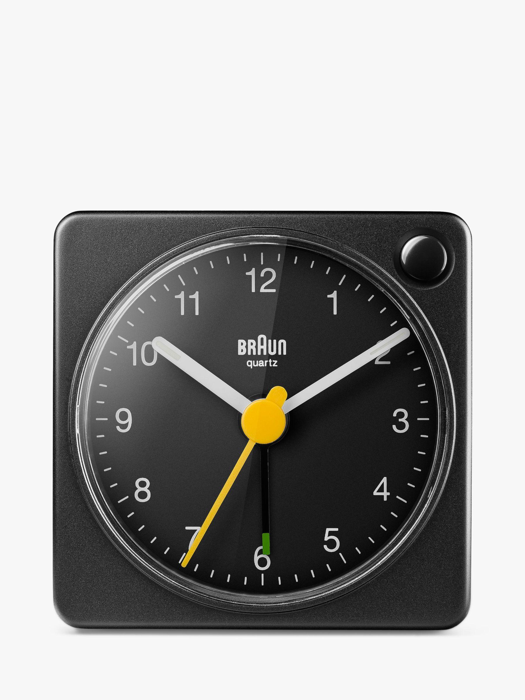 Braun Braun Analogue Compact Travel Alarm Clock, Black