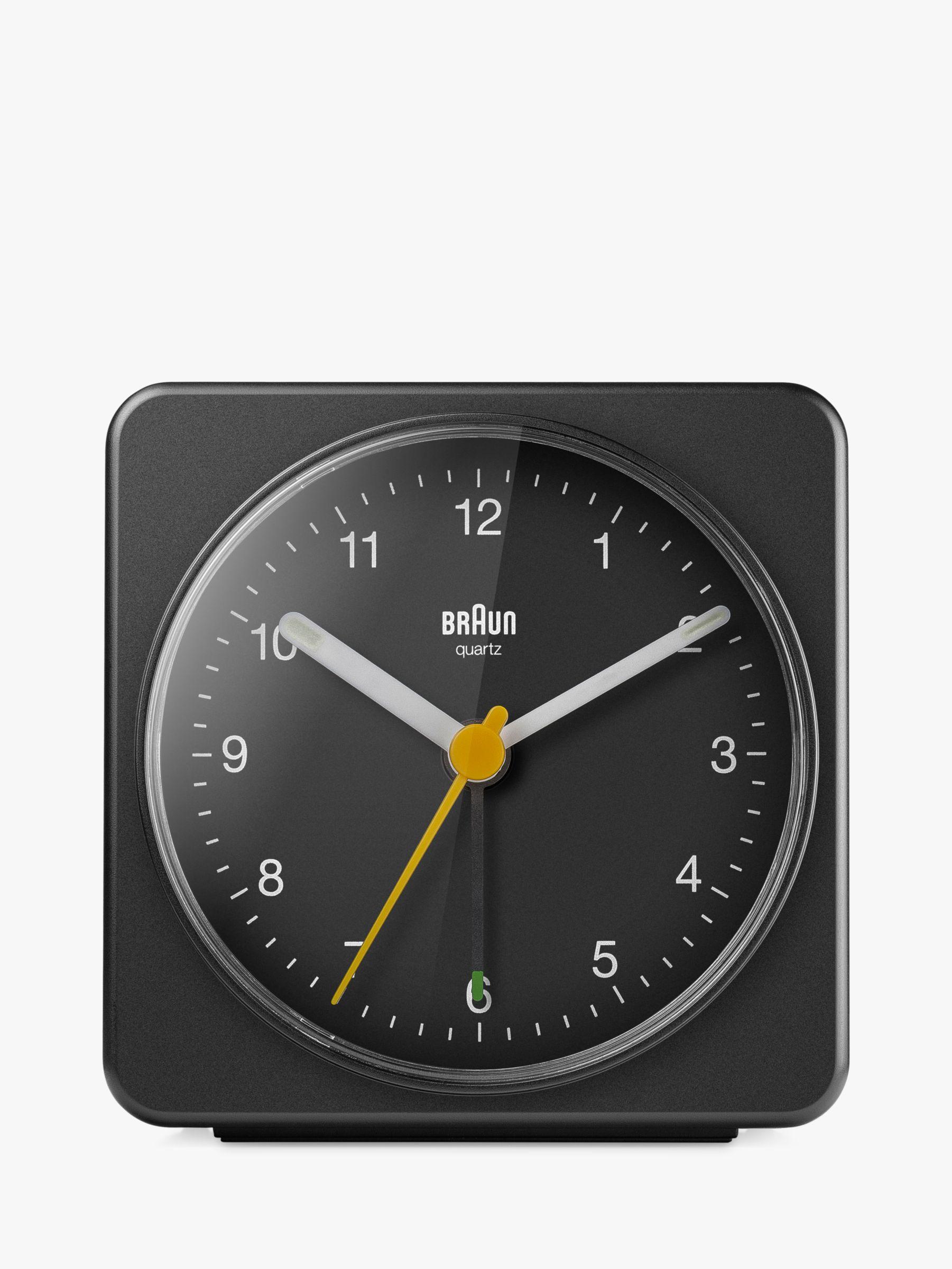 Braun Braun Analogue Alarm Clock, Black