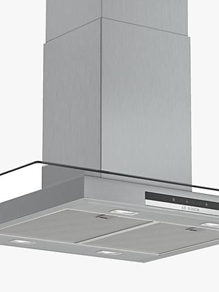 Bosch Serie 4 DIG97IM50B 90cm Island Cooker Hood, A+ Energy Rating, Grey