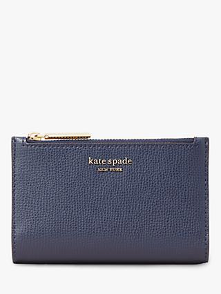 kate spade new york Sylvia Small Slim Leather Bi-Fold Purse, Blue