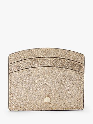 kate spade new york Burgess Court Leather Card Holder, Gold