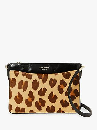 kate spade new york Margaux Haircalf Medium Convertible Cross Body Bag, Natural Multi
